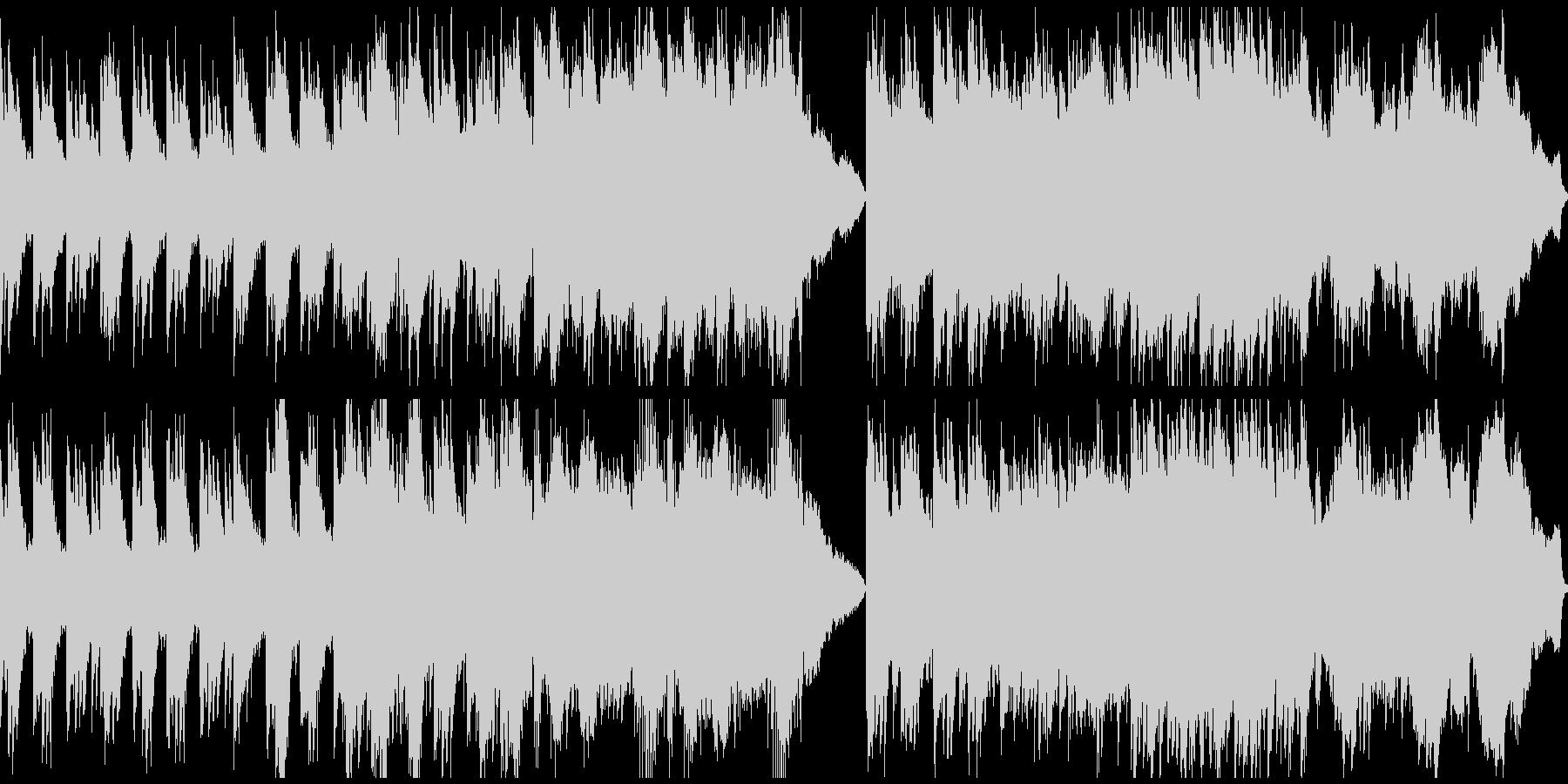 静謐な和風曲(ループ)の未再生の波形