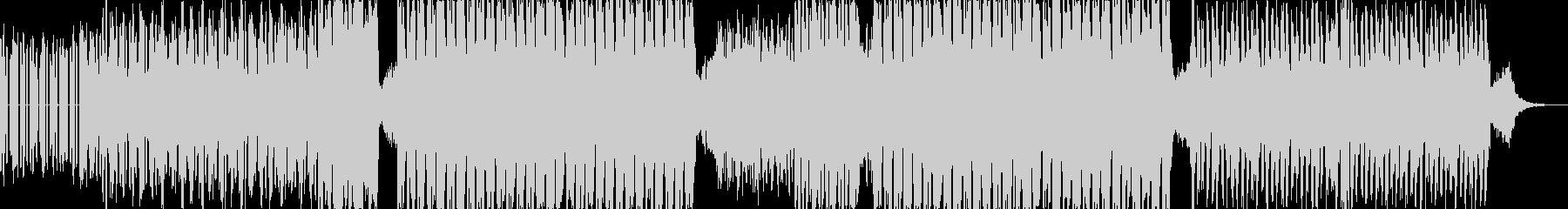 ベースの音が印象的で幻想的なテクノの未再生の波形