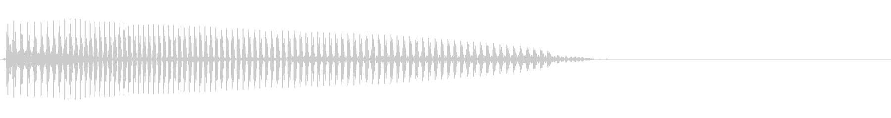 エレクトリックベース:上下スライド...の未再生の波形