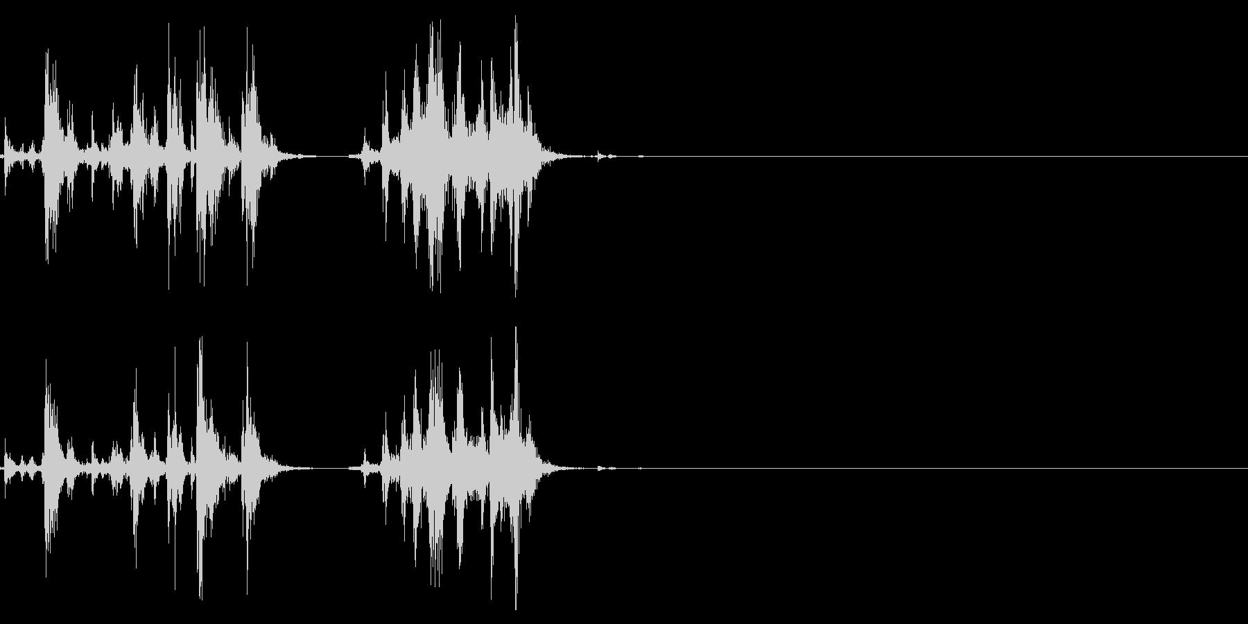 ショットガンのポンプアクション1の未再生の波形