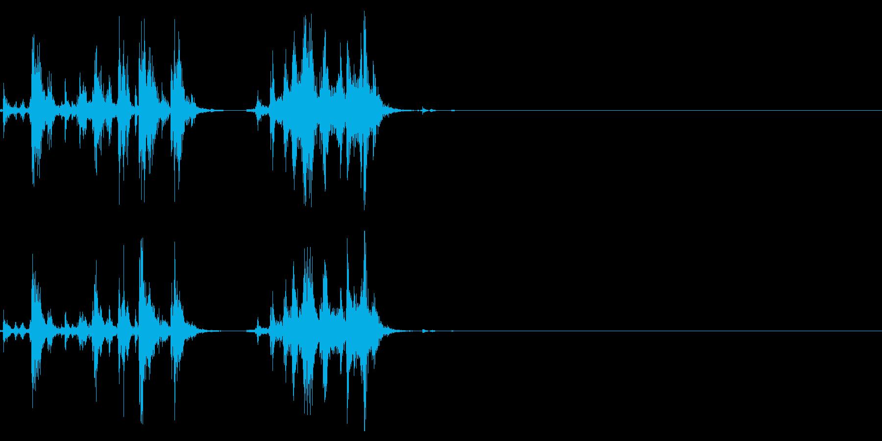 ショットガンのポンプアクション1の再生済みの波形