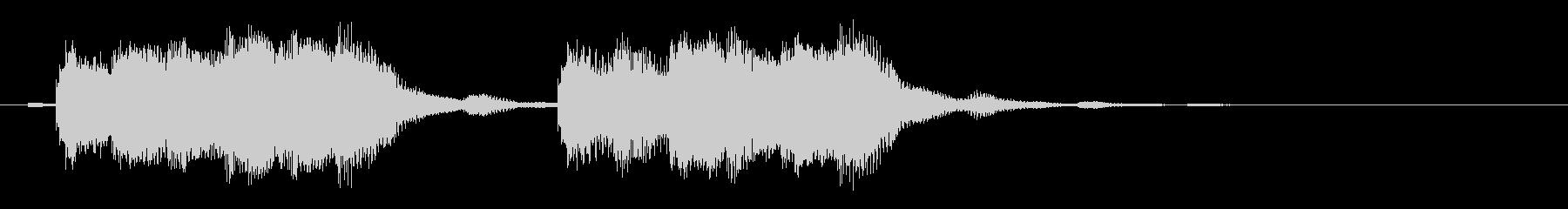タイムオーバー、アラーム音の未再生の波形