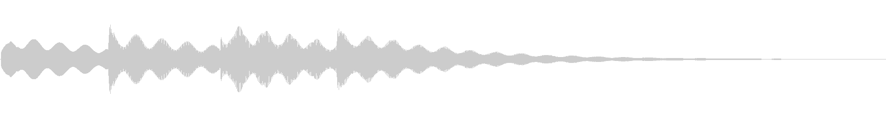 アナウンス ピンポンパンポン【1】の未再生の波形