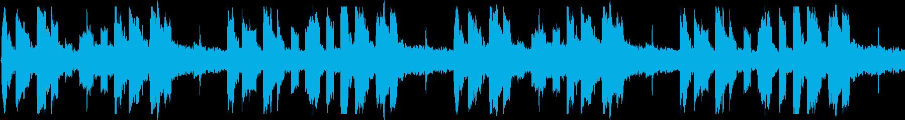 未来的でアナログ感あるシンセ音ループ素材の再生済みの波形