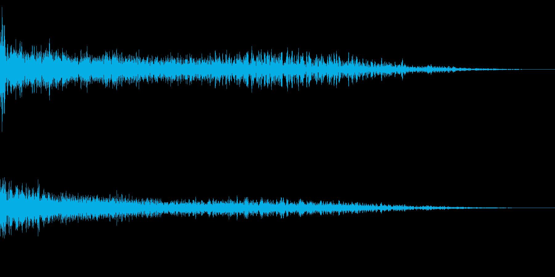 ホラー系アタック音20の再生済みの波形