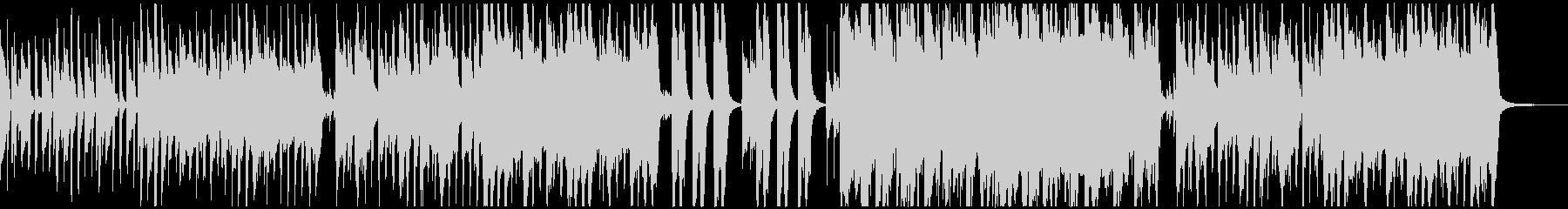 ほのぼの軽快なピアノのワルツの未再生の波形