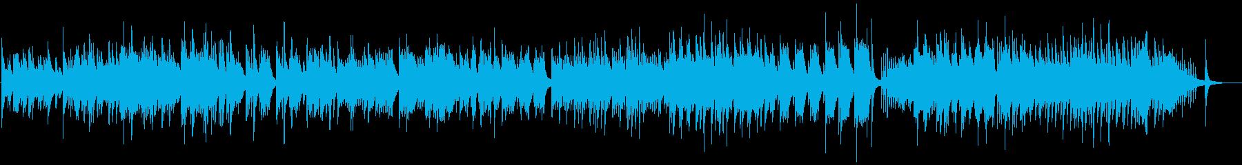春、感動的なピアノのバラードの再生済みの波形