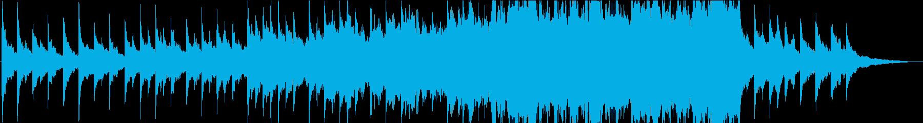徐々に盛り上がる切ないオーケストラ曲の再生済みの波形