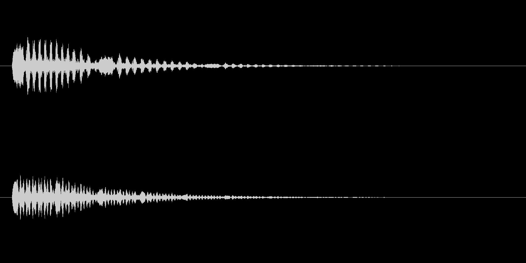 鳥のつぶやき、鳴き声などの音 SE2の未再生の波形