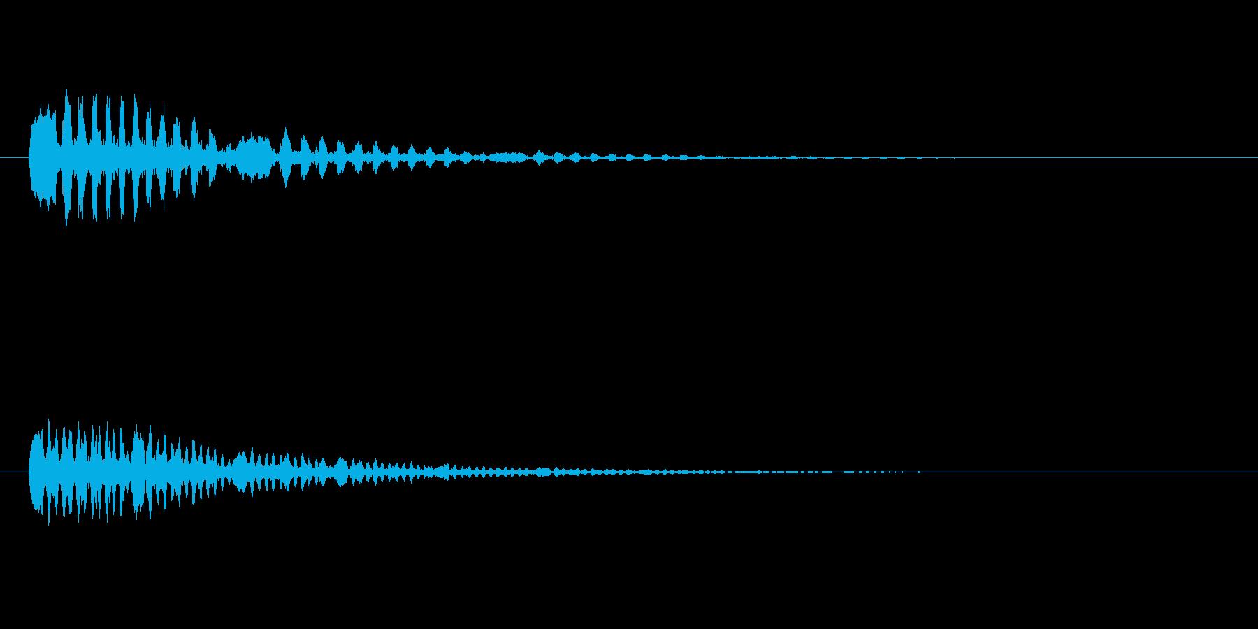 鳥のつぶやき、鳴き声などの音 SE2の再生済みの波形