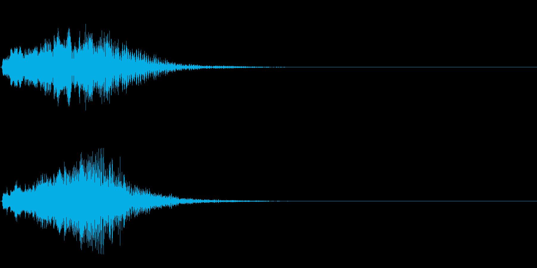 ハープ・下降_2-2の再生済みの波形
