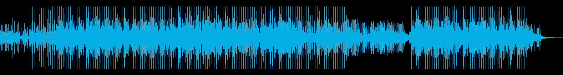 スピード感のあるトロピカルマリンバ元気曲の再生済みの波形