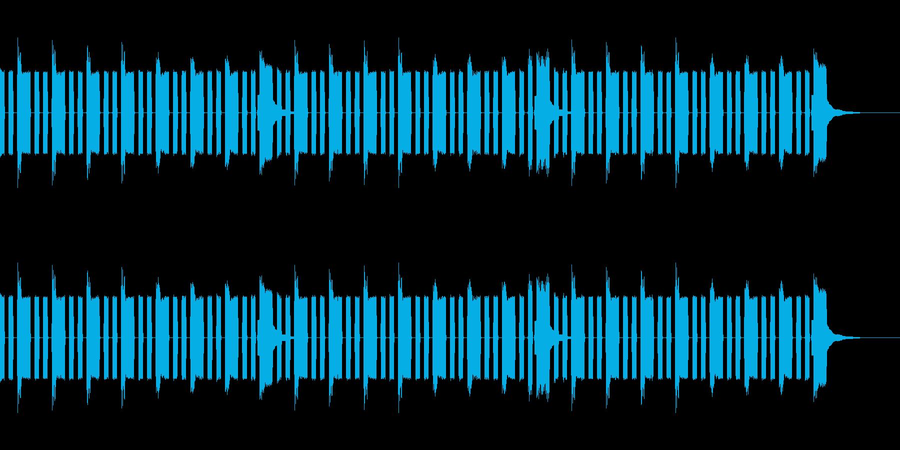 チップチューン風ループの再生済みの波形