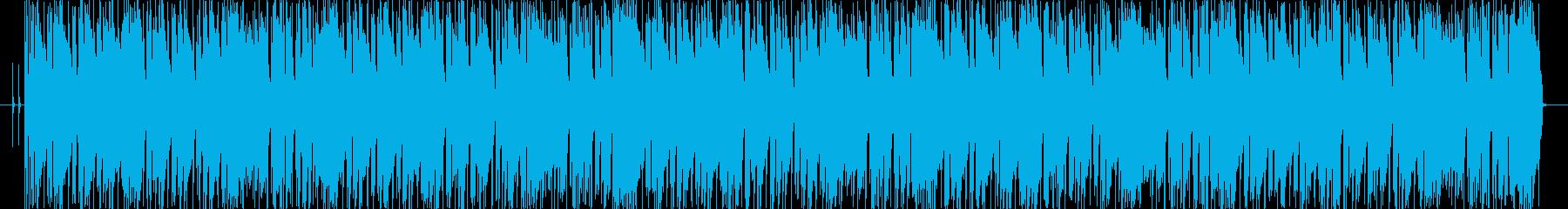 ほのぼのとしたニューオリンズ風シャッフルの再生済みの波形