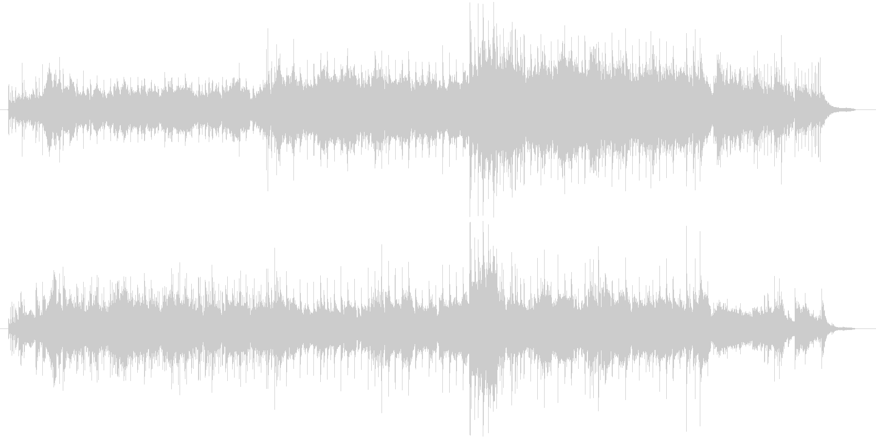 音色が綺麗で幻想的なメロディーの未再生の波形