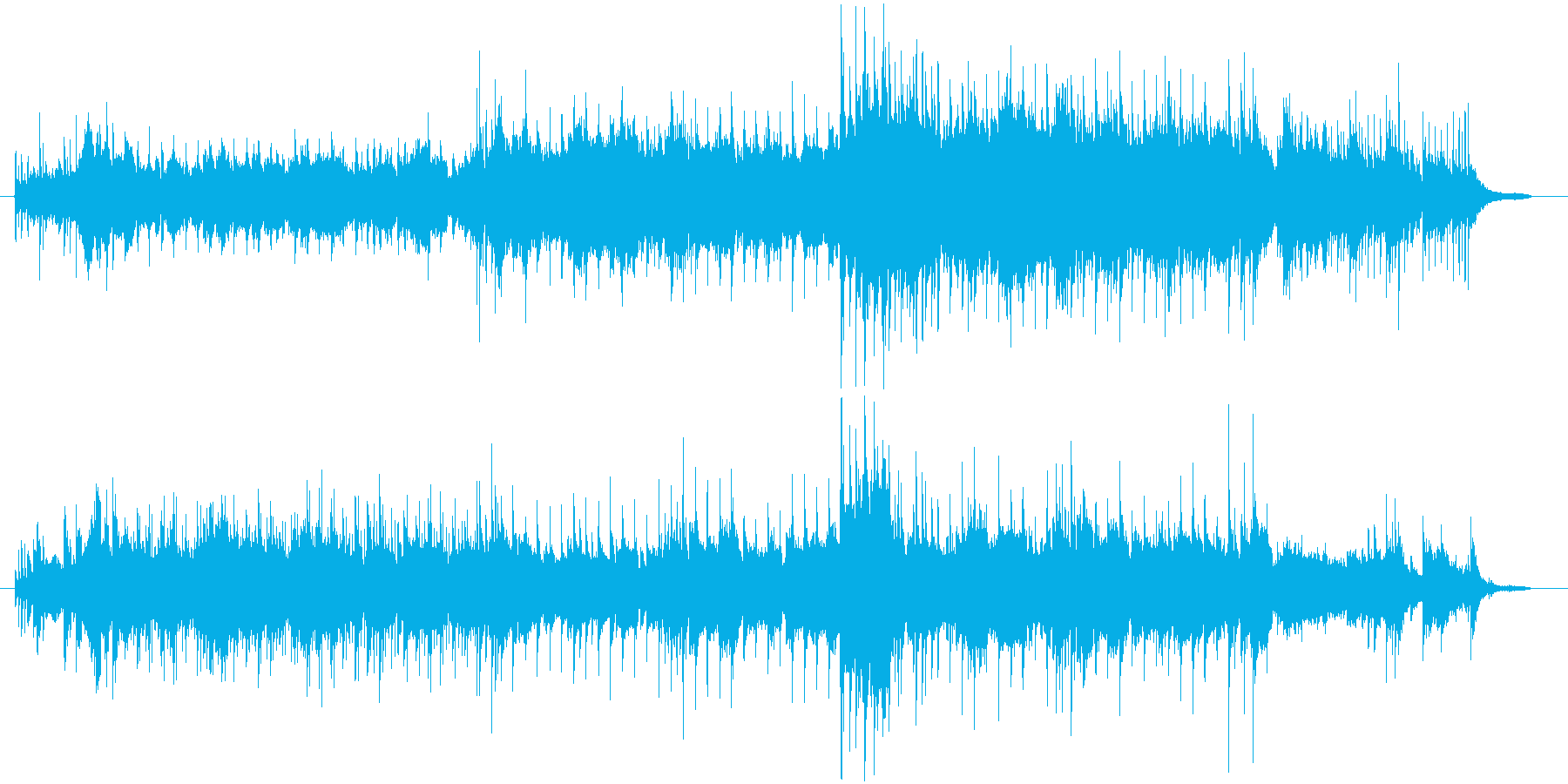 音色が綺麗で幻想的なメロディーの再生済みの波形