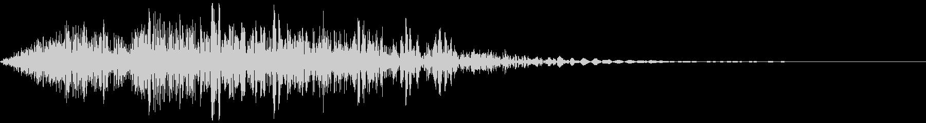 アニメ風メカの歩く音/メカの挙動音の未再生の波形