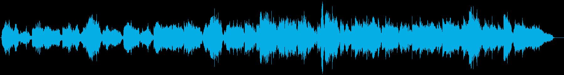 生演奏 尺八が奏でる和み系な曲の再生済みの波形