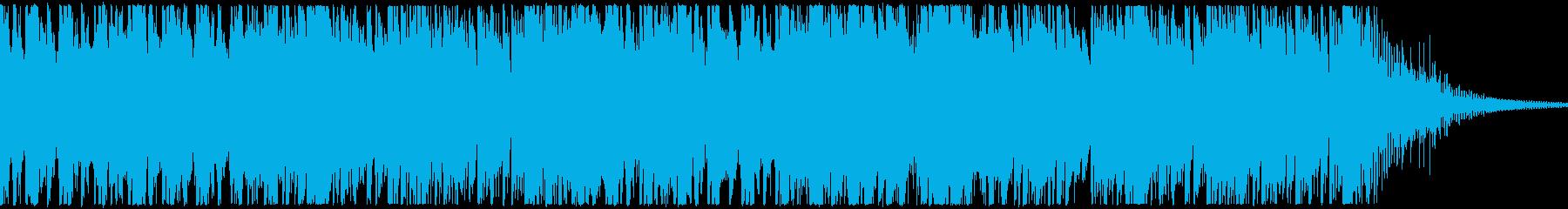 騎馬戦等をイメージした映画的な打楽器の曲の再生済みの波形