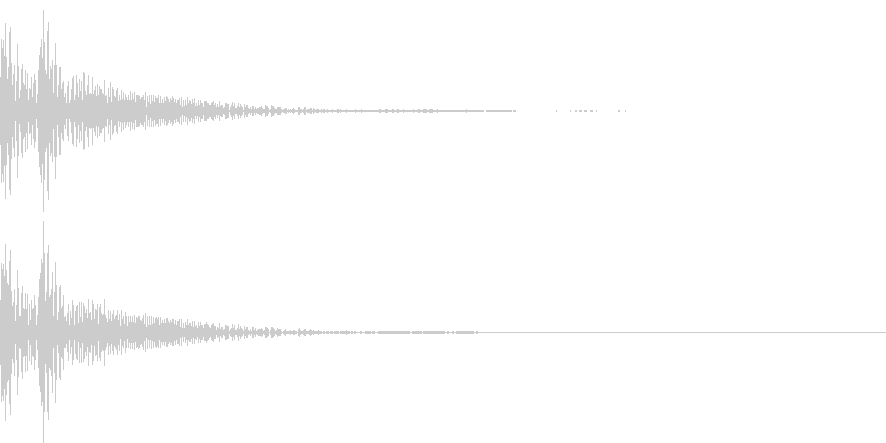 和風「ドドン」大太鼓+大鼓 通常の未再生の波形