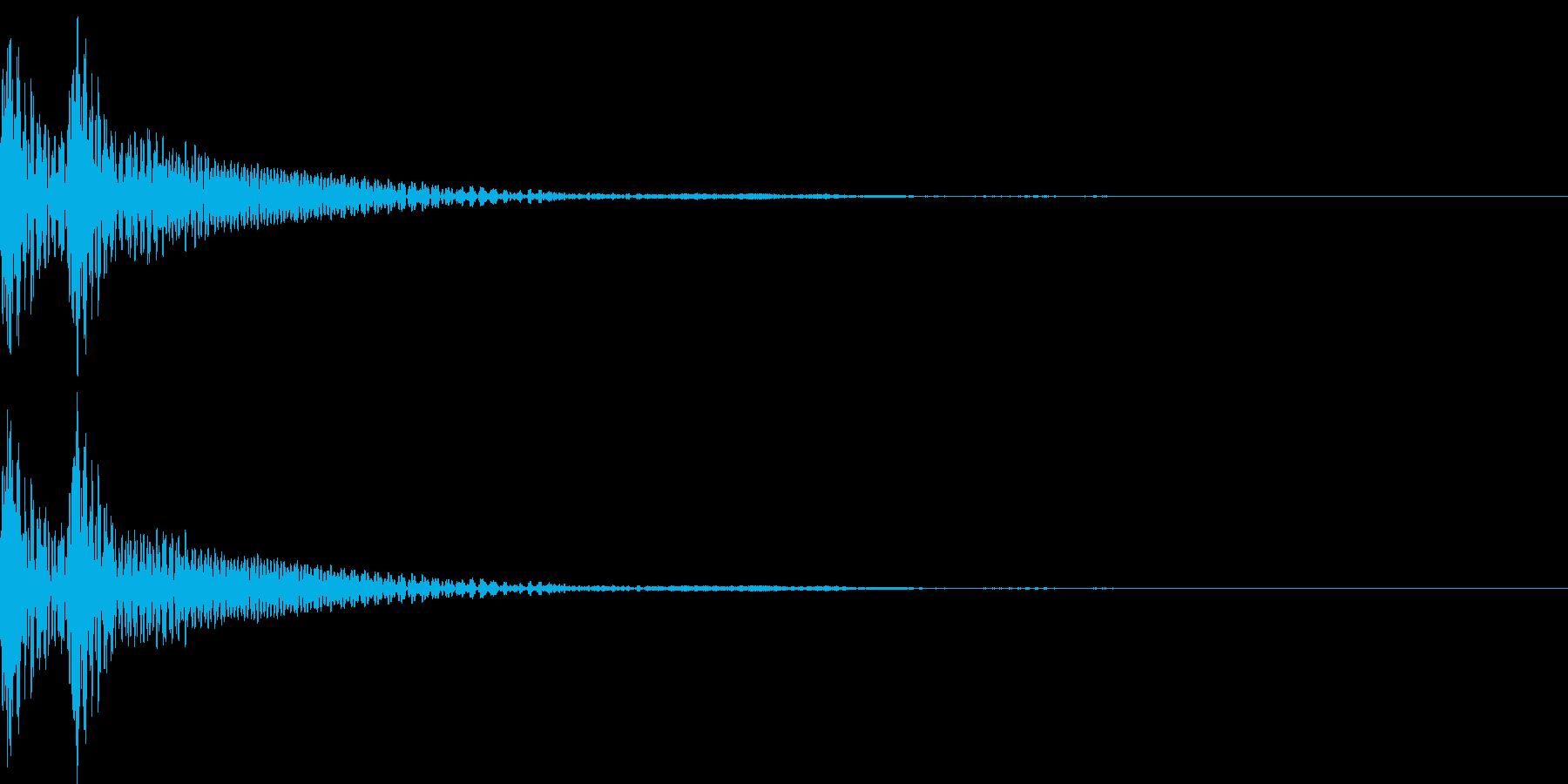 和風「ドドン」大太鼓+大鼓 通常の再生済みの波形