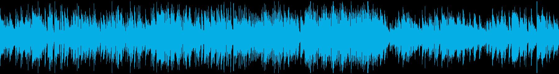 明るいボサノバ、爽やかサックス※ループ版の再生済みの波形