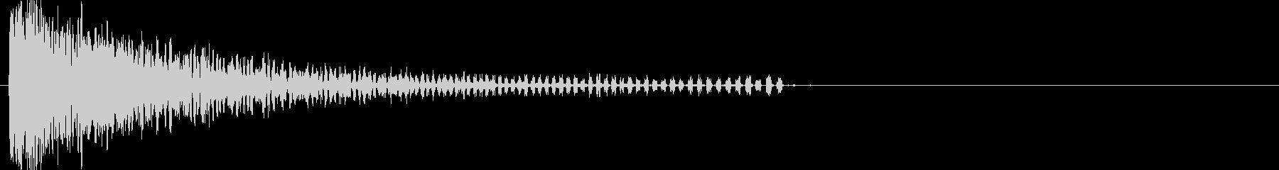 耳パンチの未再生の波形
