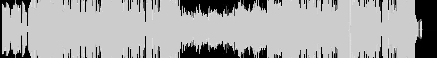 8bitなシンセのビート感強めなEDMの未再生の波形