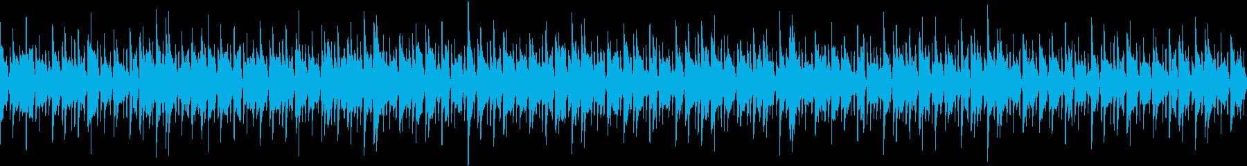 優しいボサノバBGMループの再生済みの波形