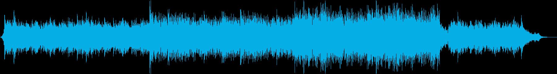 感動的なピアノ音楽トラック。の再生済みの波形