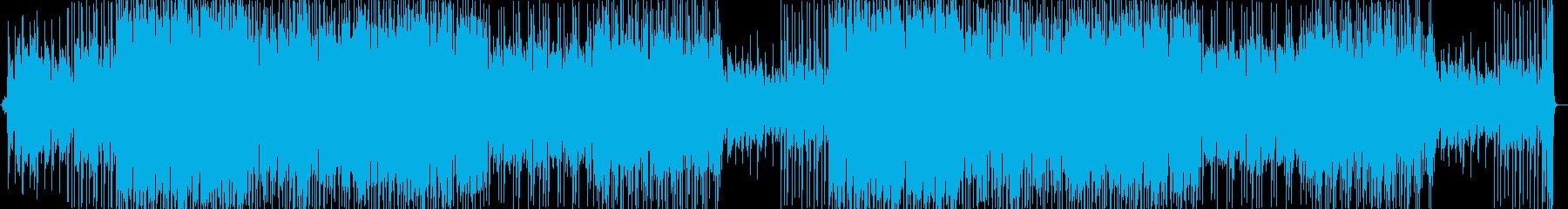ピアノがかっこいいスピード感溢れるBGMの再生済みの波形