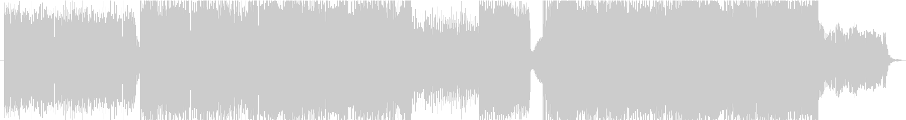 Horn メロが印象的なBGMの未再生の波形