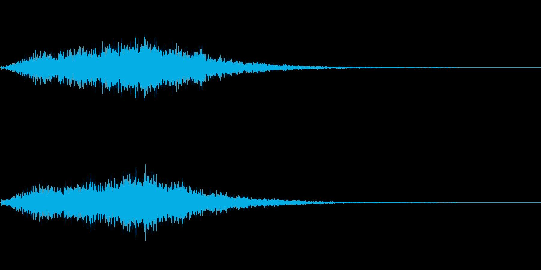 ヒュー、ドーン!!←シネマチックな衝撃音の再生済みの波形