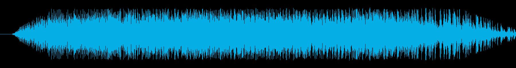 翼竜の鳴き声(クアーッ)の再生済みの波形