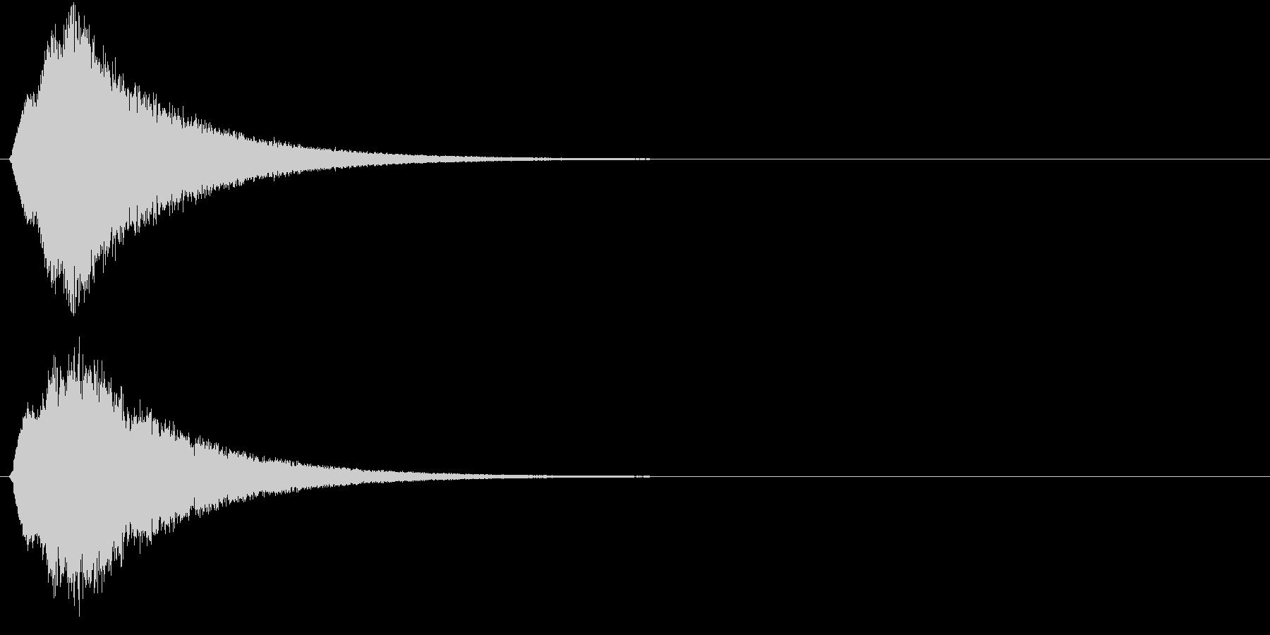 キュピーン 光 魔法効果 未来感の未再生の波形