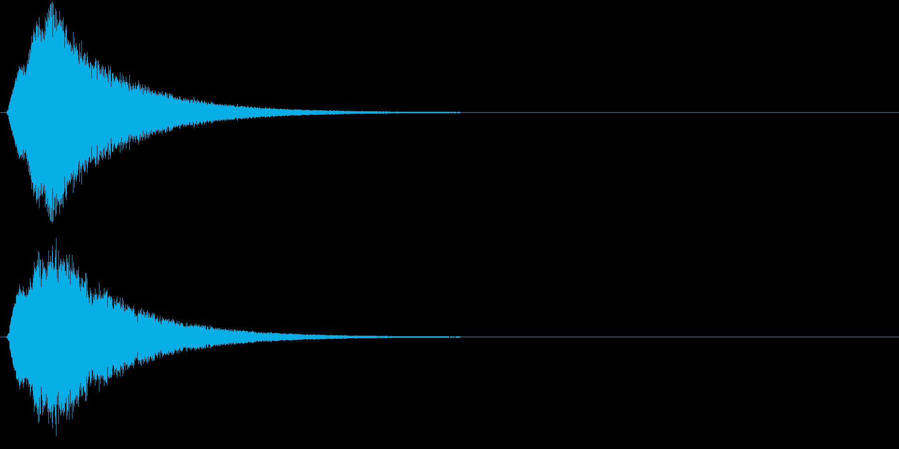キュピーン 光 魔法効果 未来感の再生済みの波形