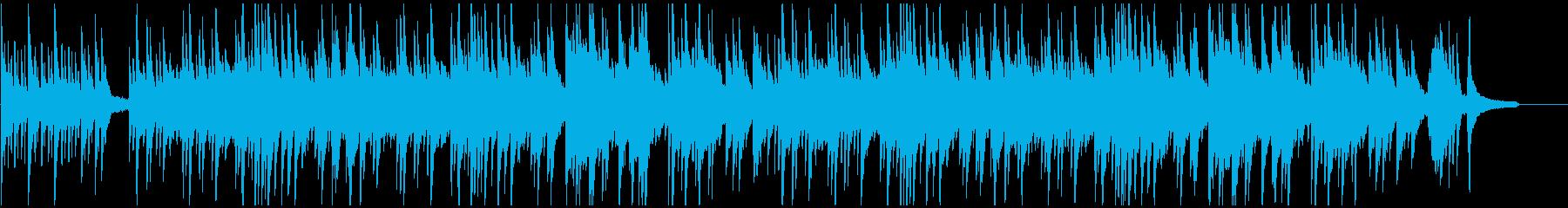 暗く悲しいイメージのピアノヒーリング曲の再生済みの波形