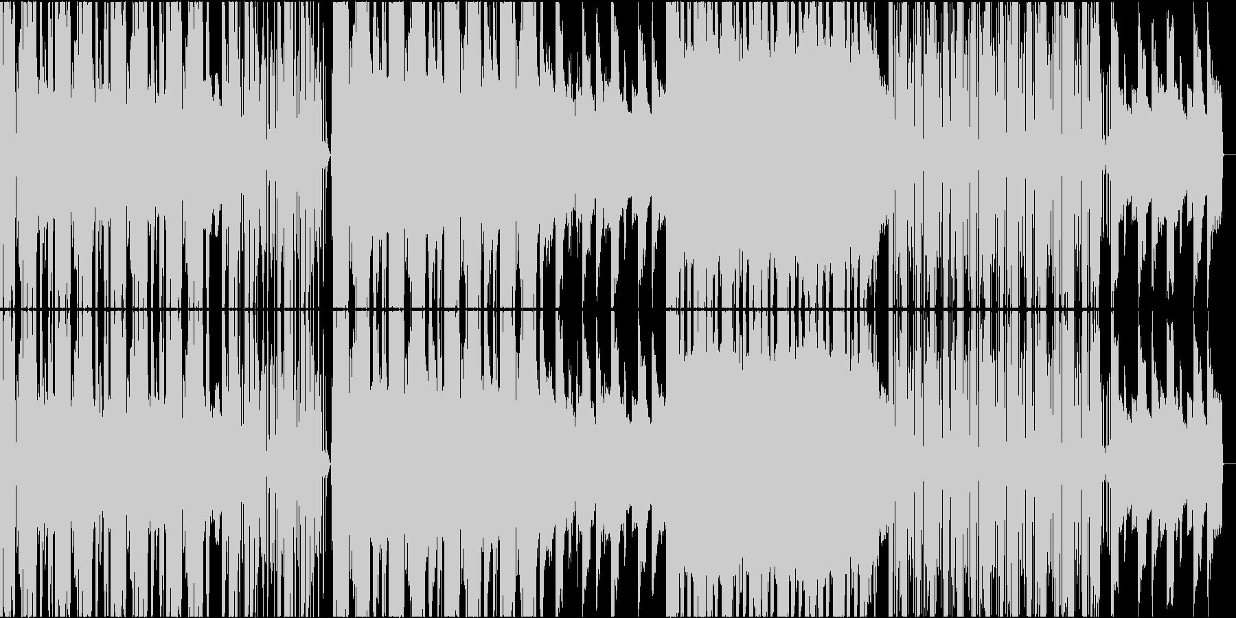 淡々とした不思議なリズム感のミニマルの未再生の波形