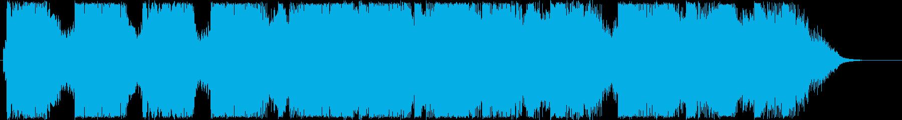 優しくふんわりしたオルゴール音の再生済みの波形