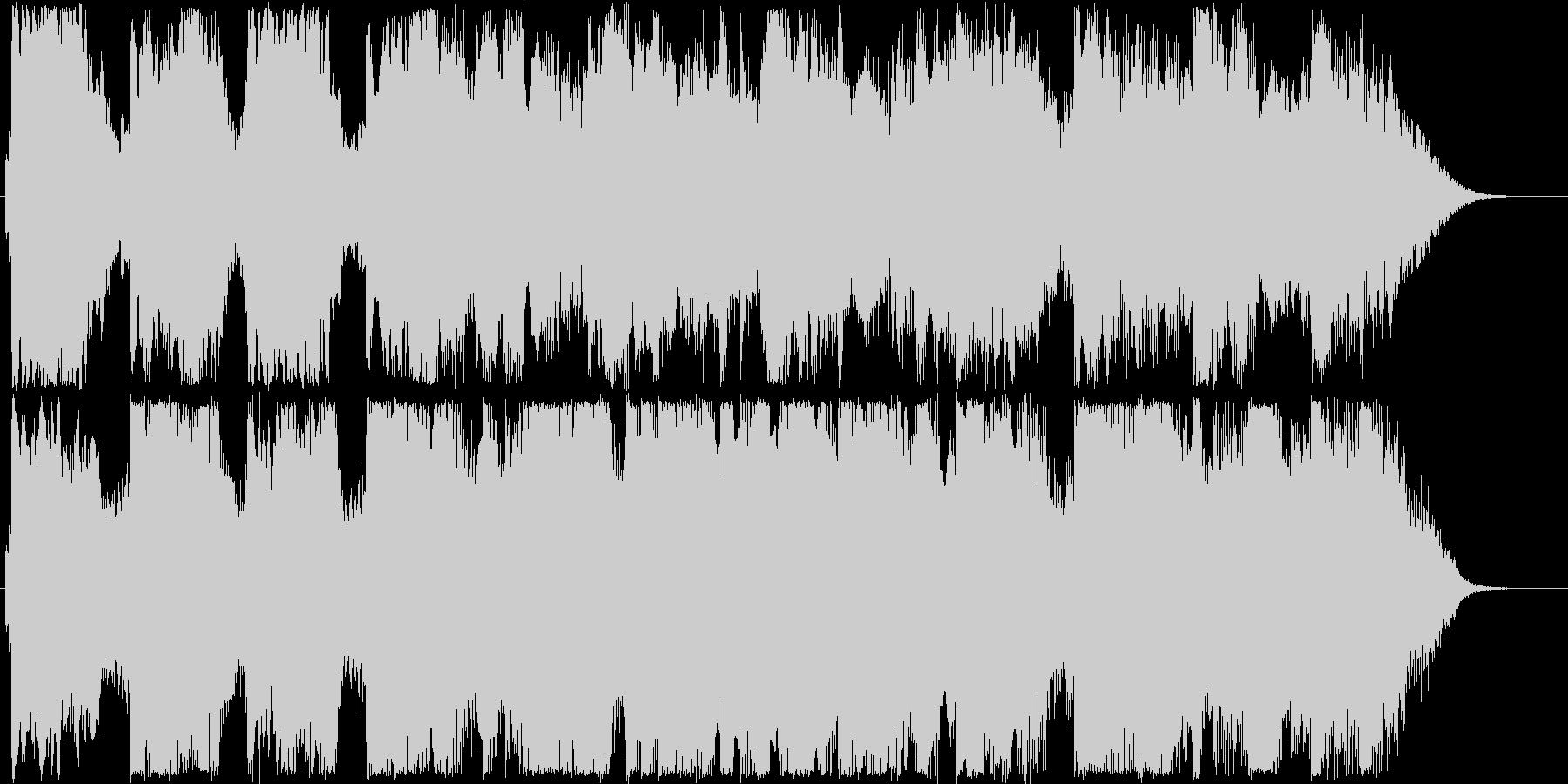 優しくふんわりしたオルゴール音の未再生の波形
