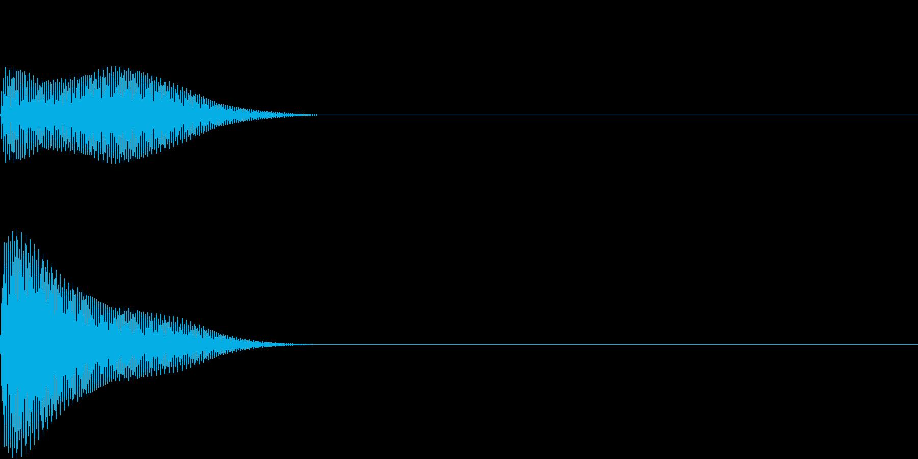 ボン(click_ボタンシンプル)の再生済みの波形