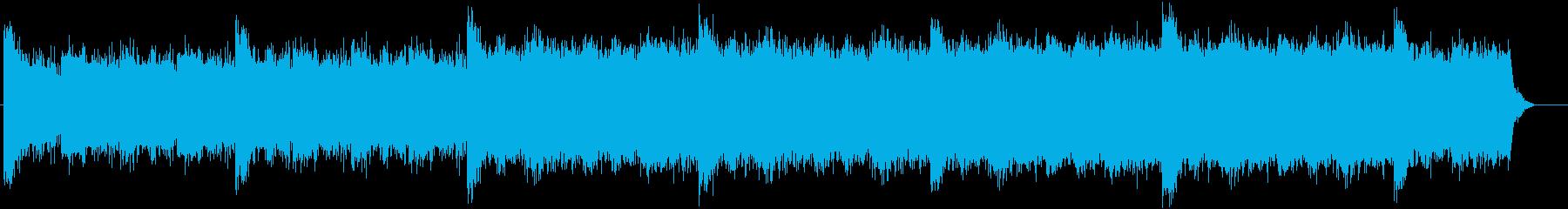 重厚な不穏感漂う不気味なBGMの再生済みの波形