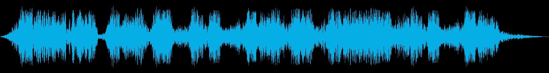 短騒音溝の再生済みの波形