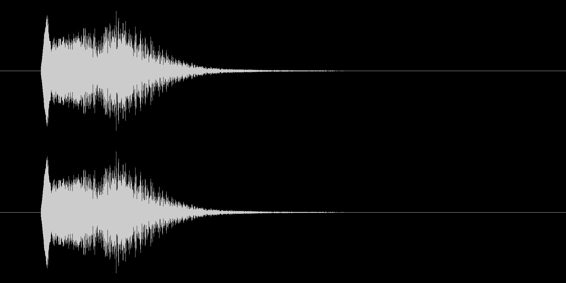 コミカルな失敗音の未再生の波形