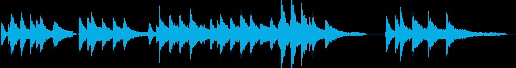 誕生日定番ソングのピアノ伴奏の再生済みの波形