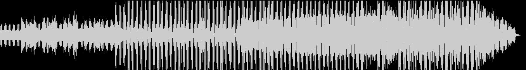リズムが特徴的な楽曲の未再生の波形