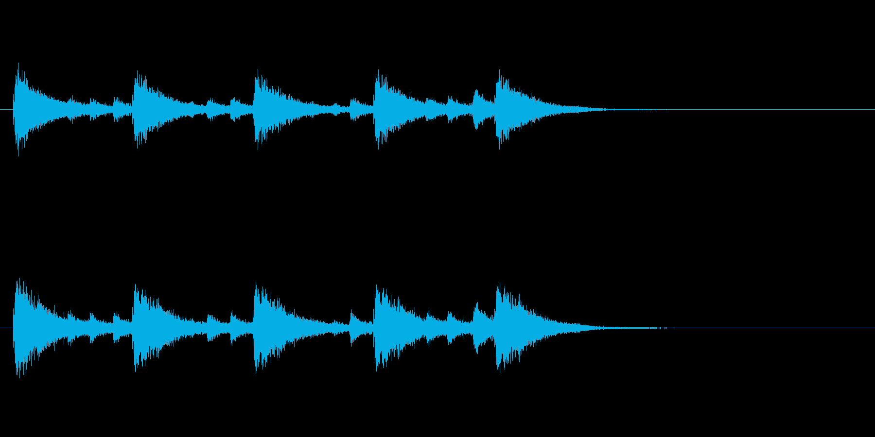 和製シンバルみょうはちのフレーズ音+FXの再生済みの波形