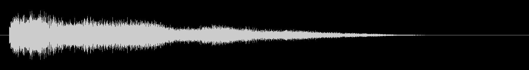 ボーン(破裂、爆発音)余韻付きの未再生の波形