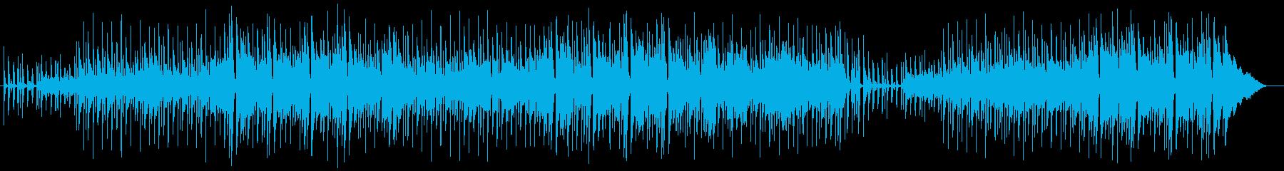 のどかでスタッカートの効いているポップ曲の再生済みの波形