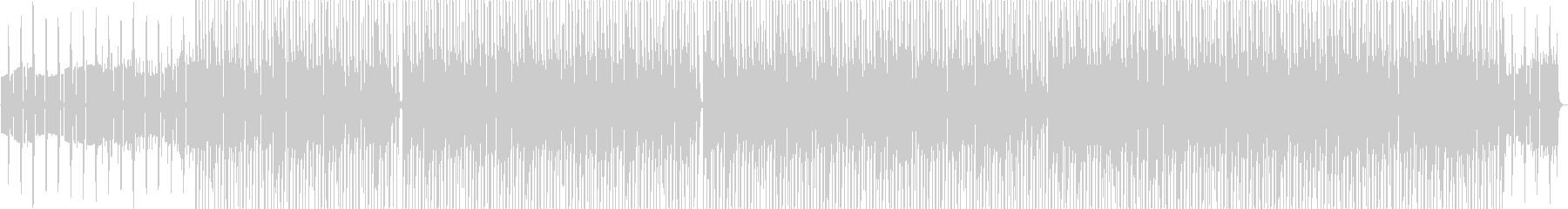 色々な打楽器にによるおしゃれなビートの未再生の波形